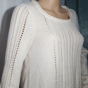 Lucky Brand Cream & Gold Knitted Sweater